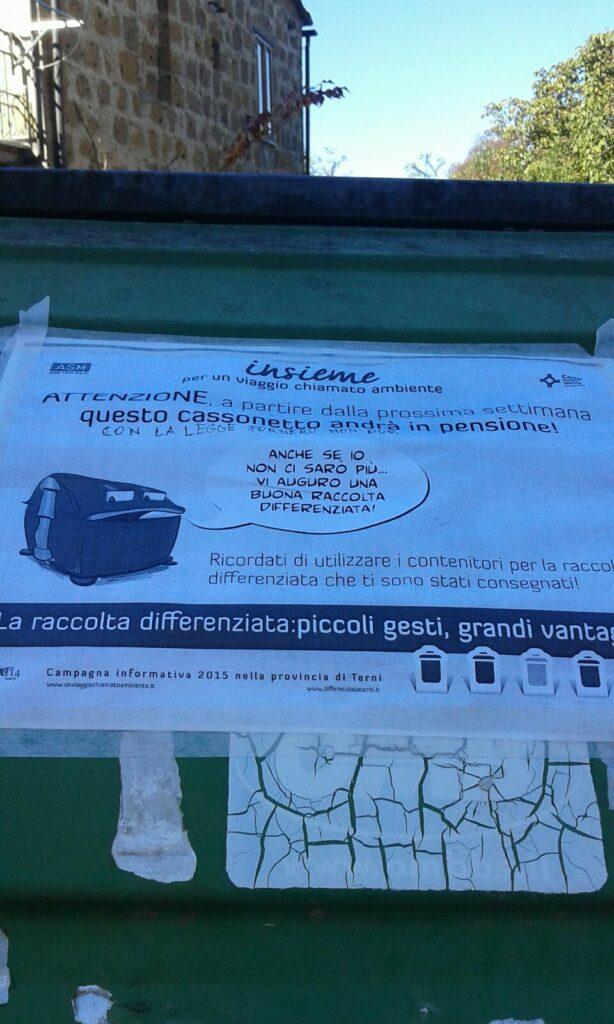 RACCOLTA PORTA A PORTA – RIMOZIONE CASSONI STRADALI