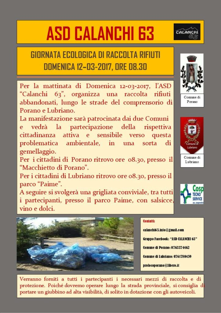 GIORNATA ECOLOGICA RACCOLTA RIFIUTI
